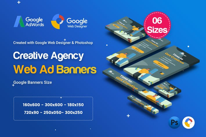 Cover Image For C14 - Creative, Startup Agency Banners HTML5 Ad