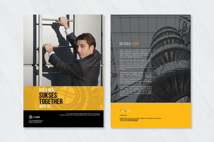 Thumbnail for Corporate Bi Fold Brochure Template