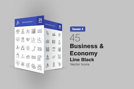 45 Icons für Business & Economy