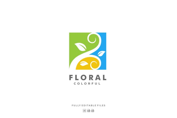 Thumbnail for Floral Square Colorful Logo