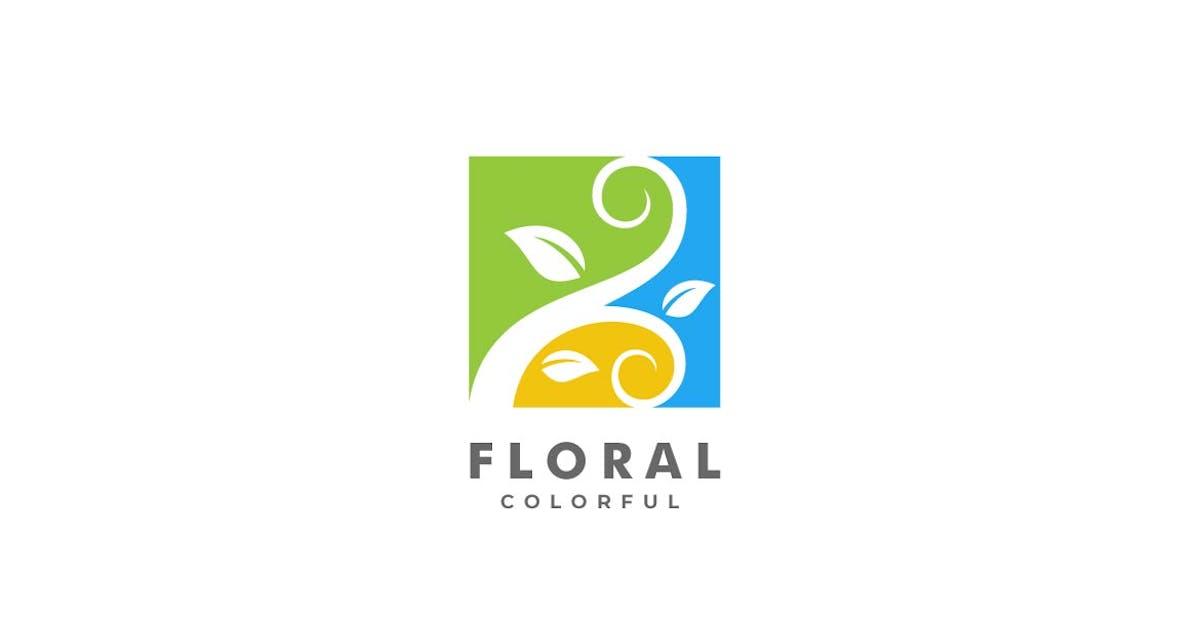 Download Floral Square Colorful Logo by ivan_artnivora