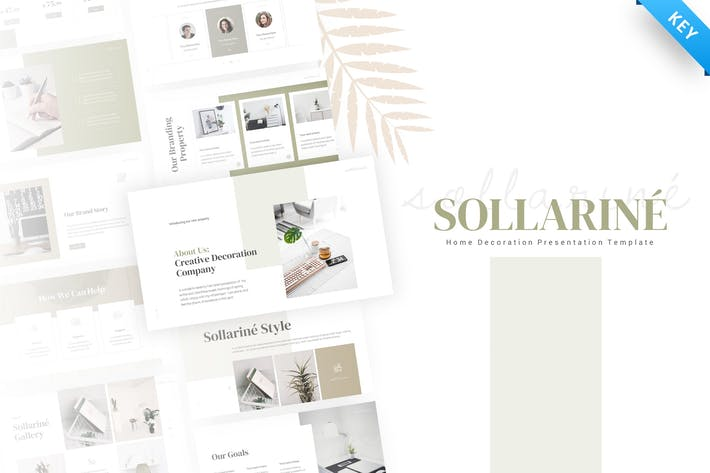 Thumbnail for Sollarine Home Decoration Keynote Template
