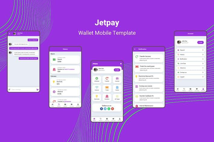 Thumbnail for Jetpay - Modèle Portefeuille Mobile