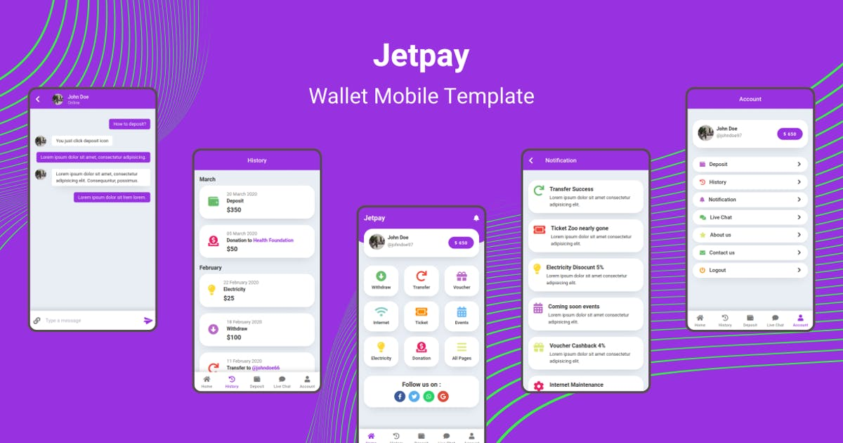 Download Jetpay - Wallet Mobile Template by aStylers