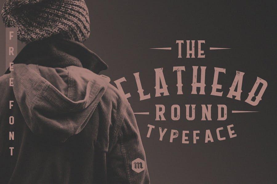 Flathead Round Typeface Vintage Font