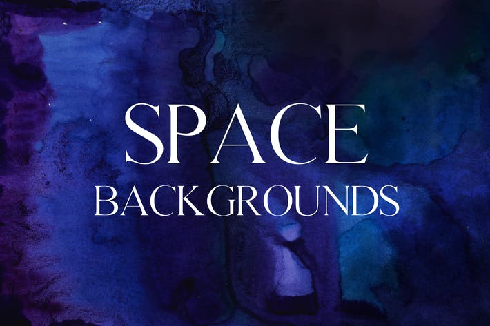 Thumbnail for 5 mystic space watercolor backgrounds