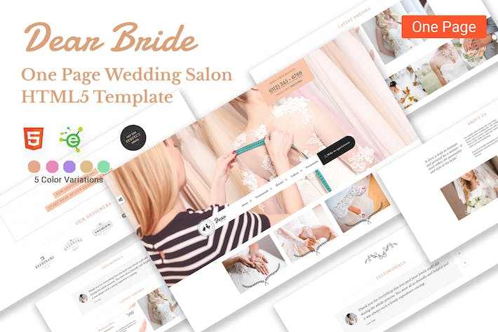 Thumbnail for Dear Bride - Wedding Salon HTML5 Template