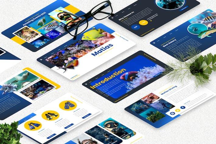 Thumbnail for Matias - Diving Sport Powerpoint Template
