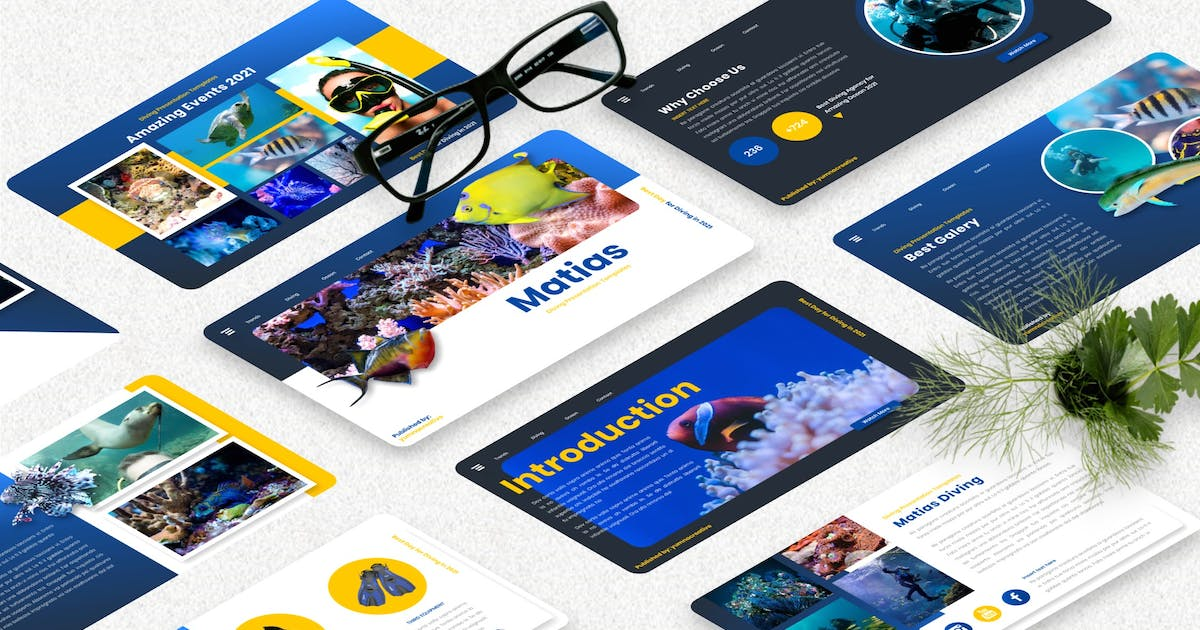 Download Matias - Diving Sport Powerpoint Template by Yumnacreative