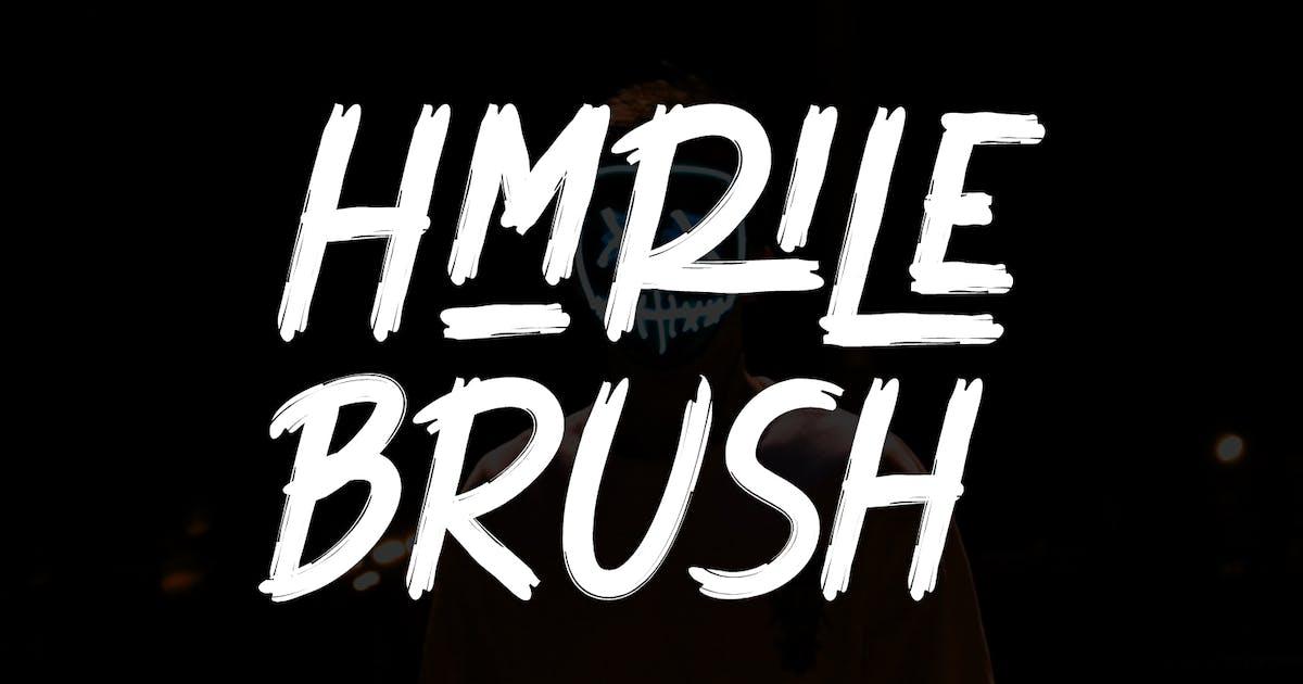 Download Hmrile Brush Font by maulanacreative