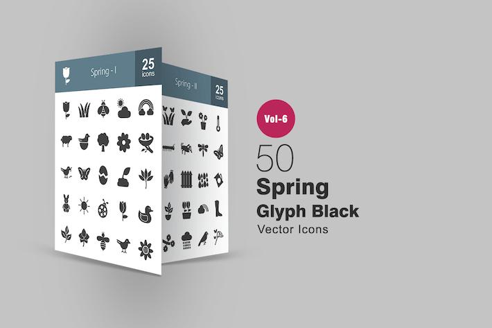 Thumbnail for 50 Frühlingsglyphe Icons