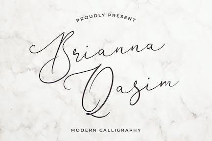 Brianna Qasim Belle police de calligraphie