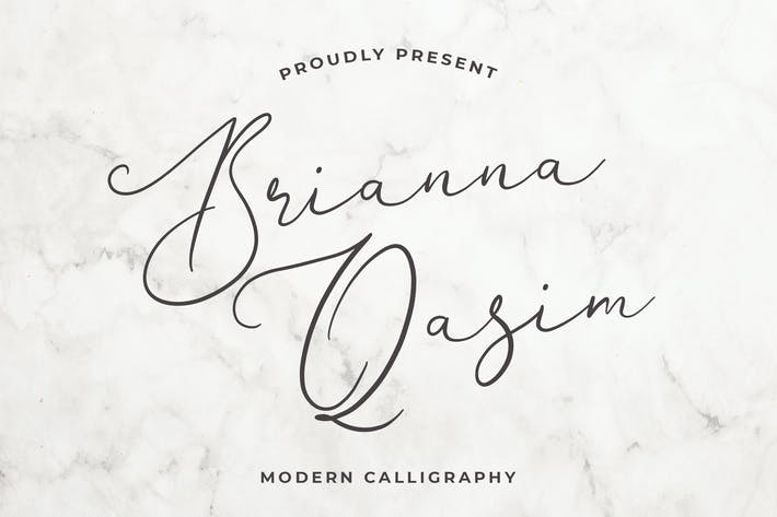 Brianna Qasim Beautiful Calligraphy Font