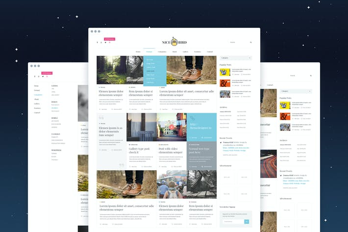 Thumbnail for Nice Bird | Blog and Newspaper PSD Template