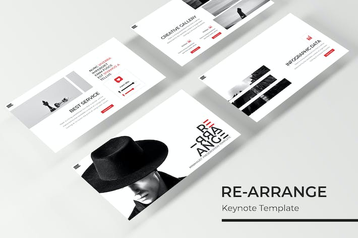 Thumbnail for RE-ARRANGE - Keynote Template