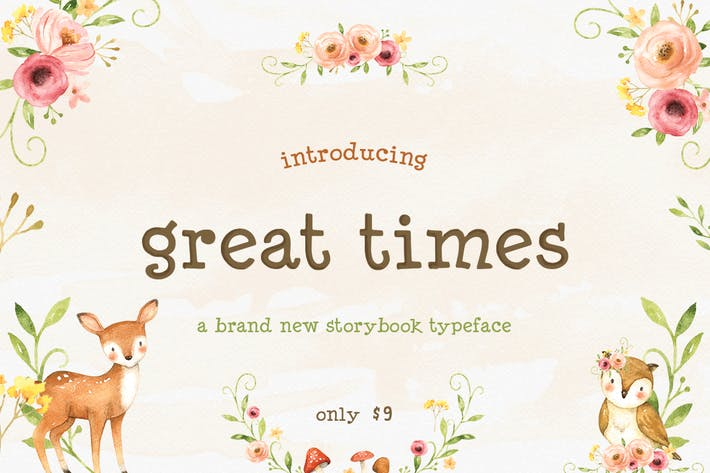 Thumbnail for Great Times Font