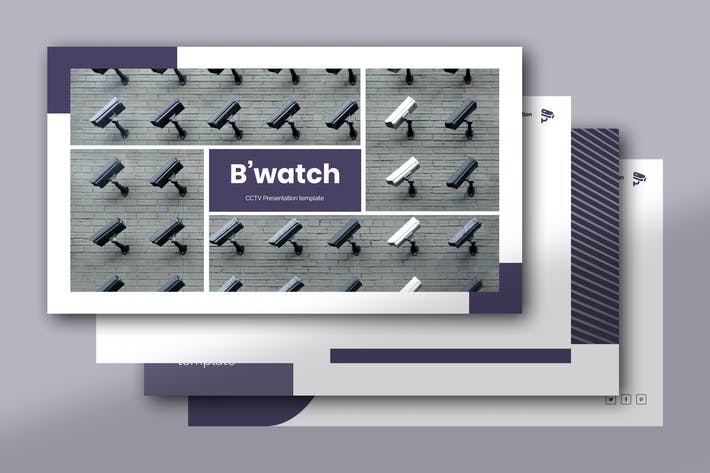 B Watch Cctv Powerpoint Template By Raseuki On Envato Elements