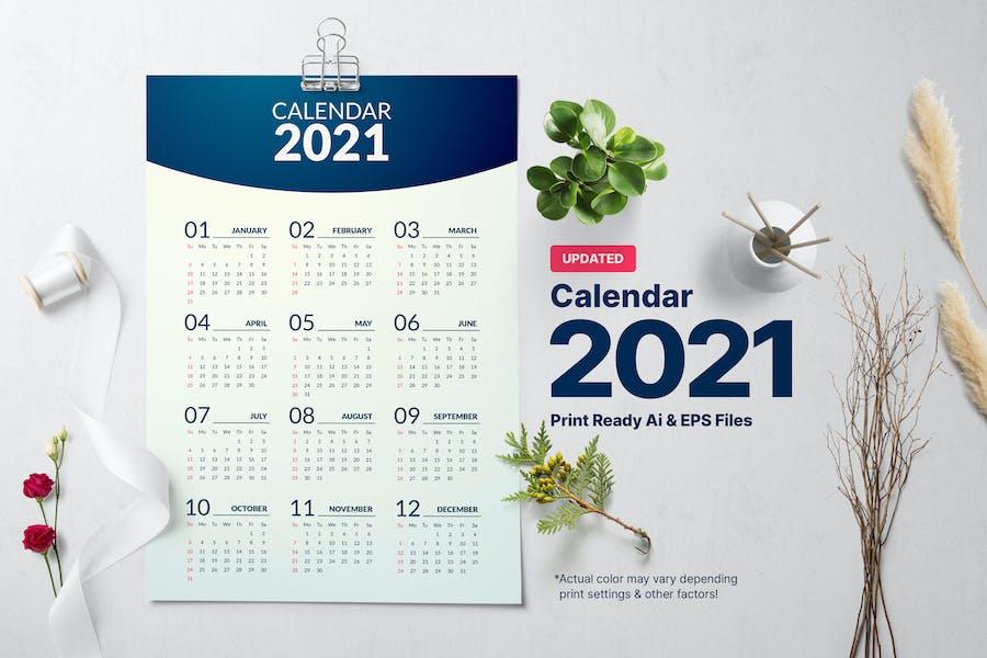 Minimal Calendar 2021