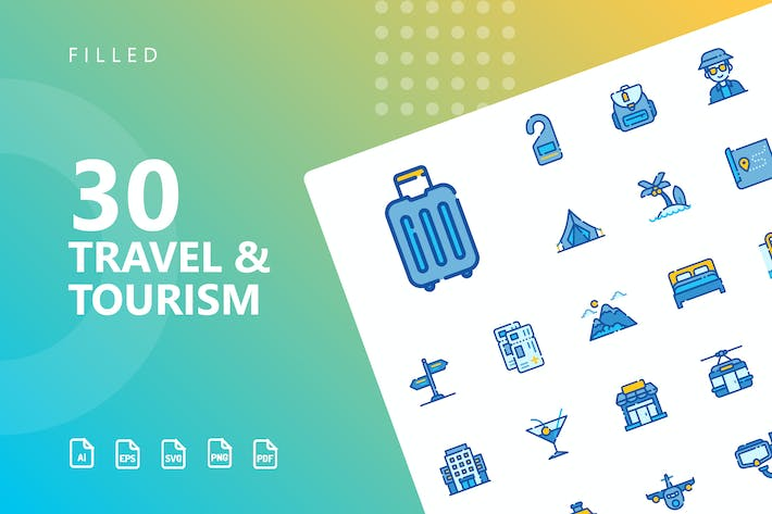 Thumbnail for Travel & Tourism Filled Icons