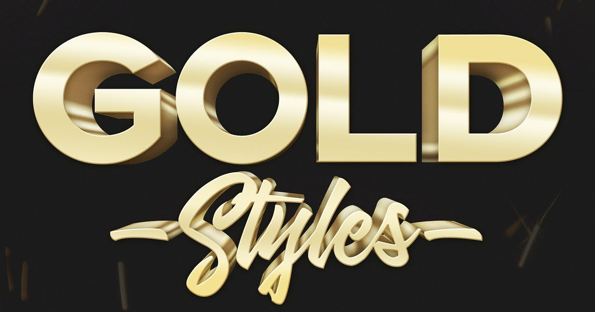 Download 3D Gold Text Effects - 10 PSD by Sko4