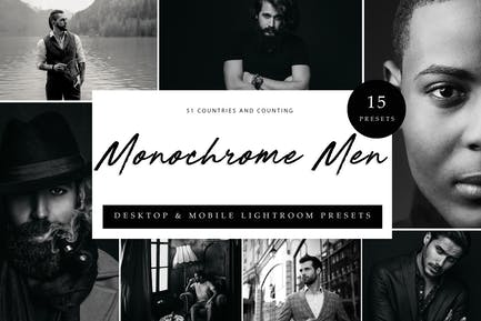 Lightroom Presets - Monochrome Men