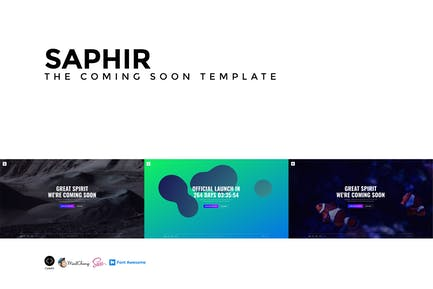 SAPHIR - The Coming Soon Template