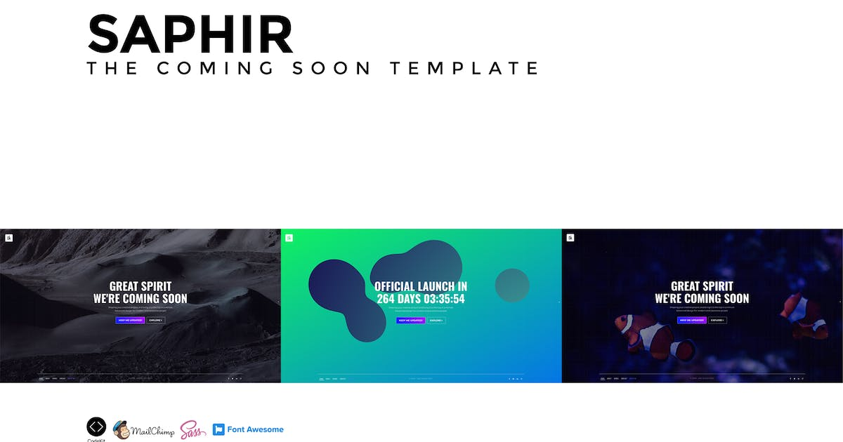 Download SAPHIR - The Coming Soon Template by Madeon08