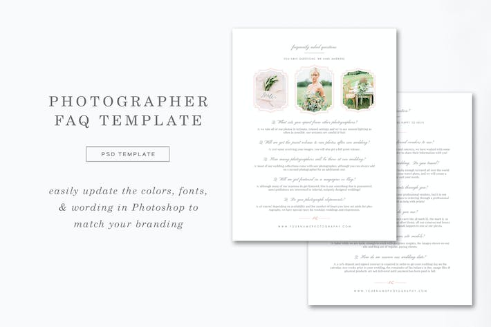 Thumbnail for Photographer FAQ Page Template