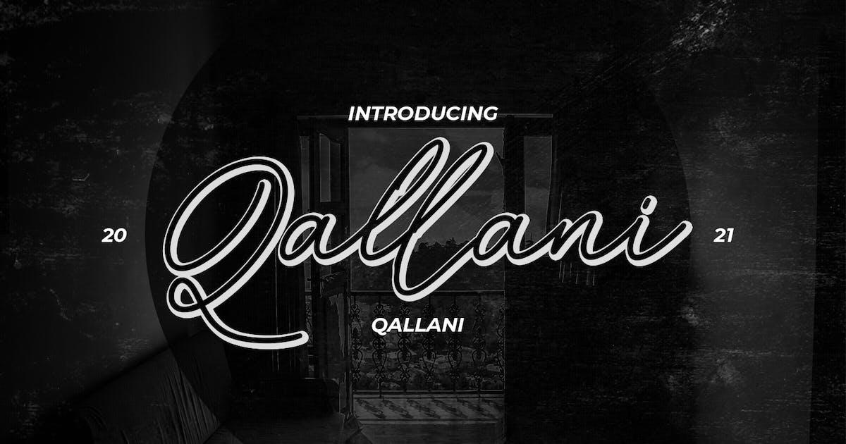 Download Qallani Script Font by maulanacreative