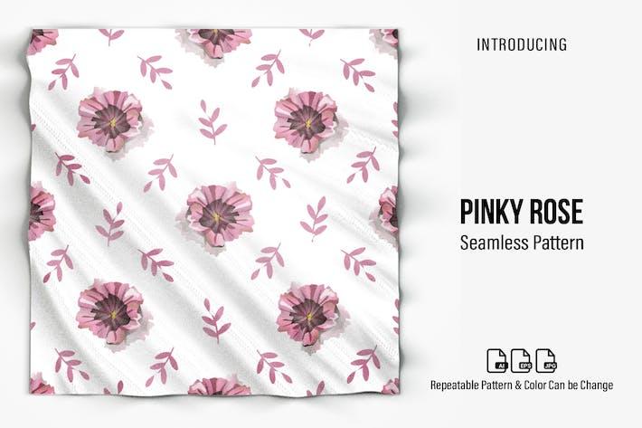 Pinky Rose Seamless Pattern