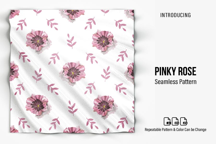 Pinky Rose Nahtloses Muster