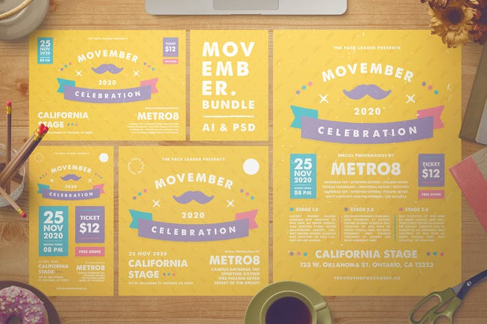 Thumbnail for Movember Flyer Set + Instagram Story