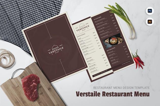 Verstaile Restaurant Menu