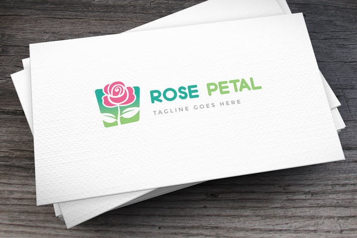 Rose Petal Logo Template