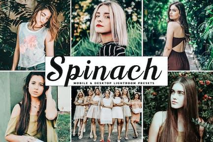 Spinach Mobile & Desktop Lightroom Presets