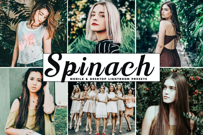 Thumbnail for Spinach Mobile & Desktop Lightroom Presets