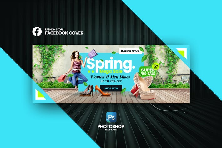 Thumbnail for Karina - Fashion Store Facebook Cover Vorlage