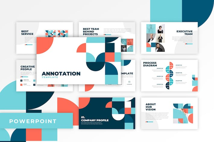 Annotation - Flat Design PowerPoint Template