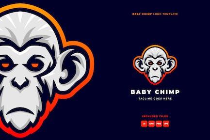 Baby Chimp Logo Template