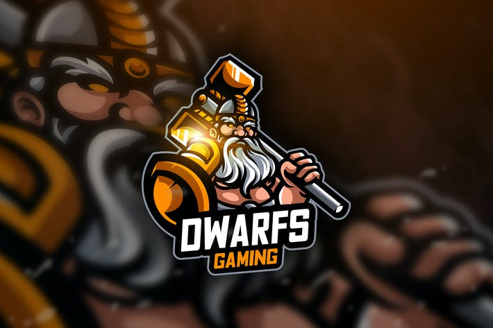 Thumbnail for Dwarf Gaming- Mascot & Esport Logo