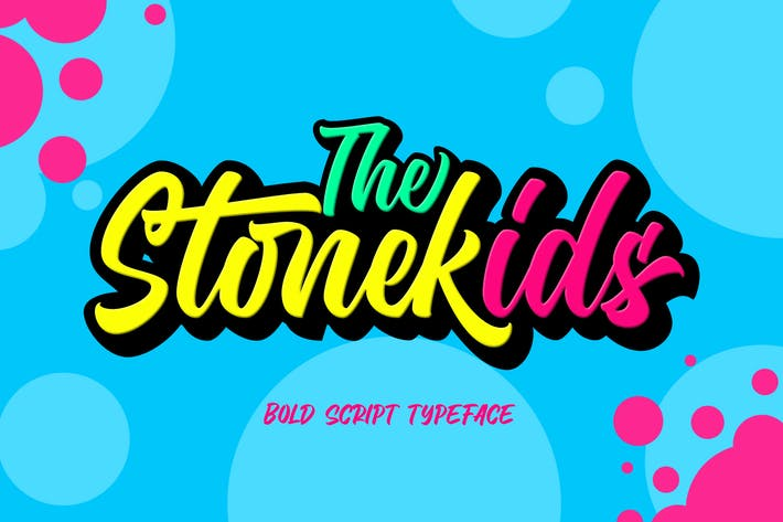 Thumbnail for Stonekids - Cute Typeface