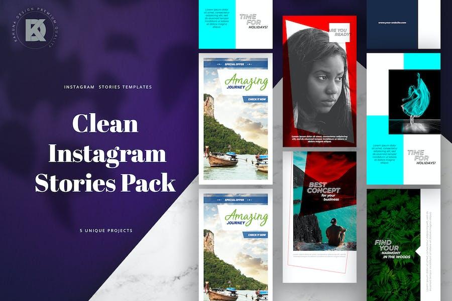 Instagram Clean Stories Pack