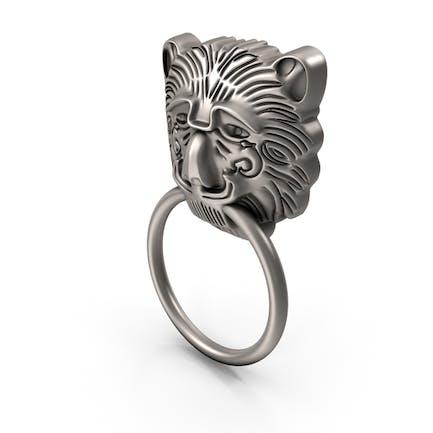 Silberner Löwenkopf-Griff