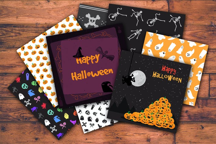 Cover Image For Vector Halloween Set