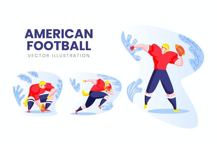 Thumbnail for American Football Vektor Zeichensatz