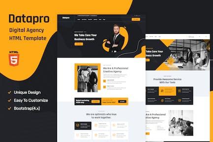 Datapro - Einseitige Agentur-HTML-Vorlage