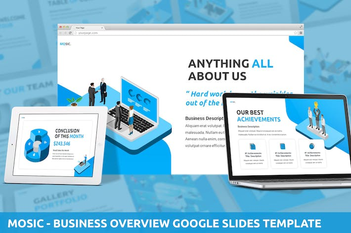 Thumbnail for Mosic - Business Overview Google Slides Template
