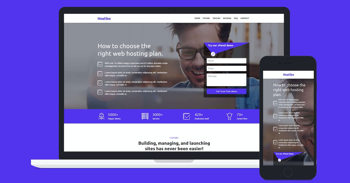 Download Hostika — Unbounce Landing Page Template by Divine-Store