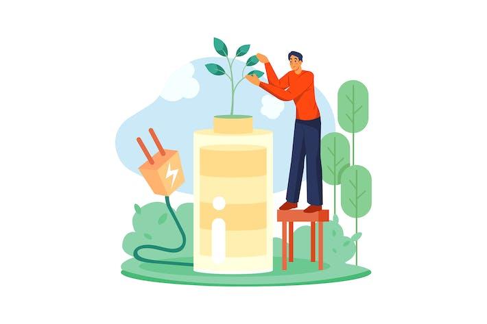 Bio Energy Illustration concept