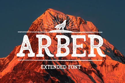 Расширенный винтажный шрифт Arber